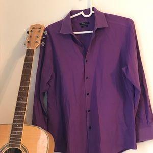 Van Heusen 16.5 , 32/33 Purple Business